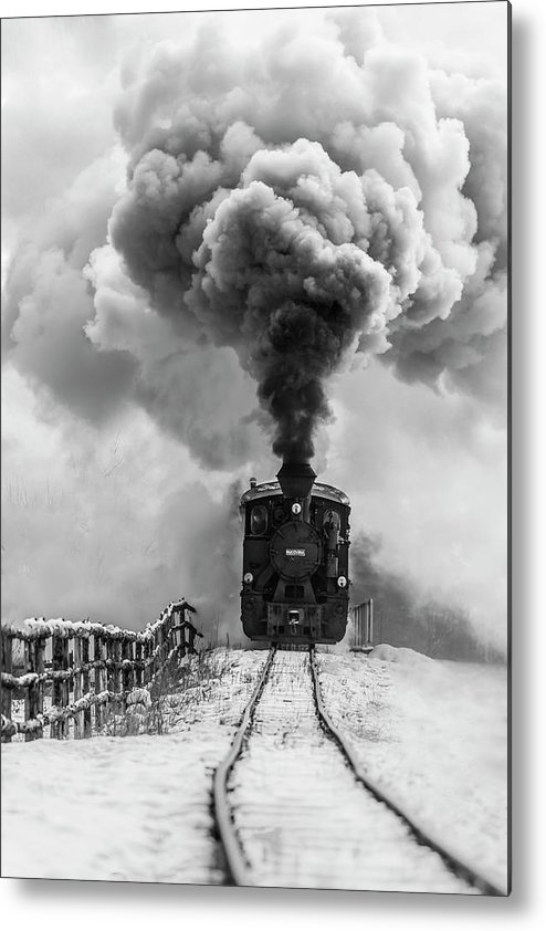 Steam Metal Print featuring the photograph Old Train by Sveduneac Dorin Lucian