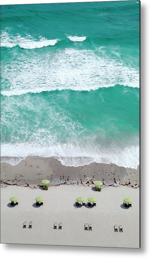 Vacations Metal Print featuring the photograph Overhead Wide Angle Of The Beach by Bauhaus1000