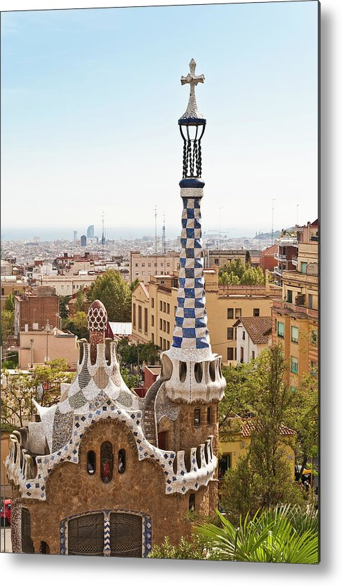 Antoni Gaudí Metal Print featuring the photograph Parc Guell By Antoni Gaudi, Barcelona by John Harper