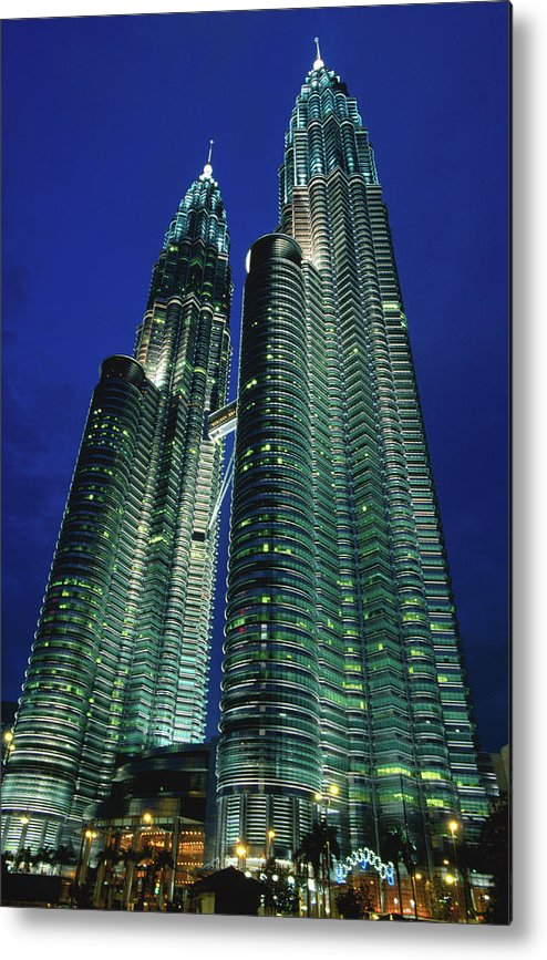 Southeast Asia Metal Print featuring the photograph Petronas Towers by John Elk