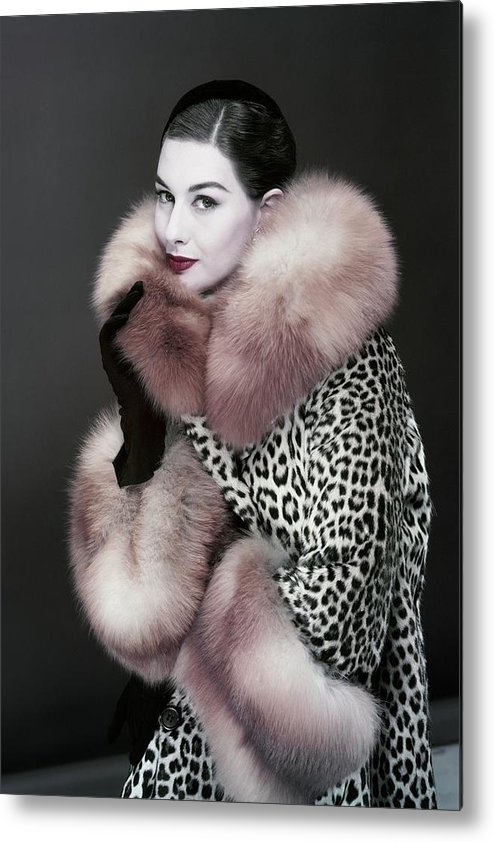 Fashion Metal Print featuring the photograph Portrait Of Nancy Berg by Erwin Blumenfeld