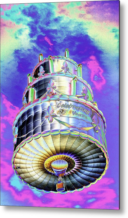 Awesome Psychedelic Hot Air Balloon Birthday Cake Celebrating 25 Years Funny Birthday Cards Online Necthendildamsfinfo