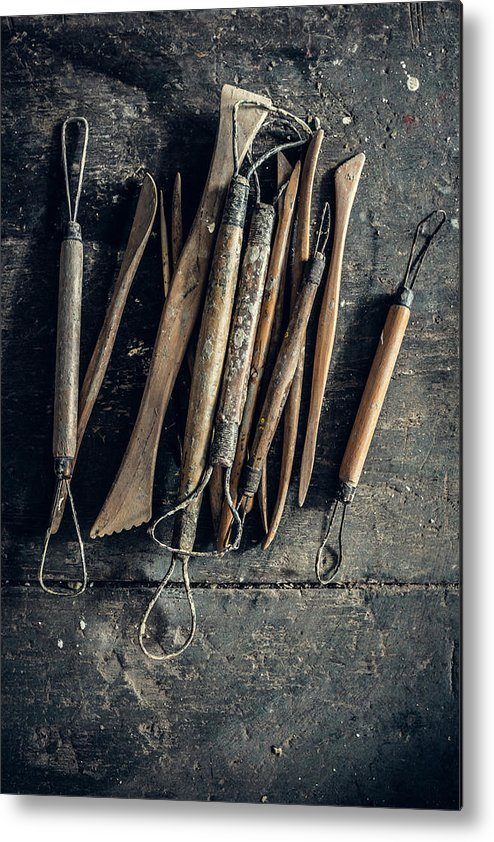 Art Metal Print featuring the photograph Sculpting Tools by Alexd75