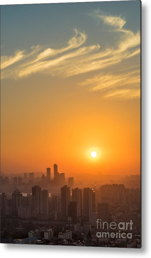 Seoul Metal Print featuring the photograph Seoul 02 by Tom Uhlenberg