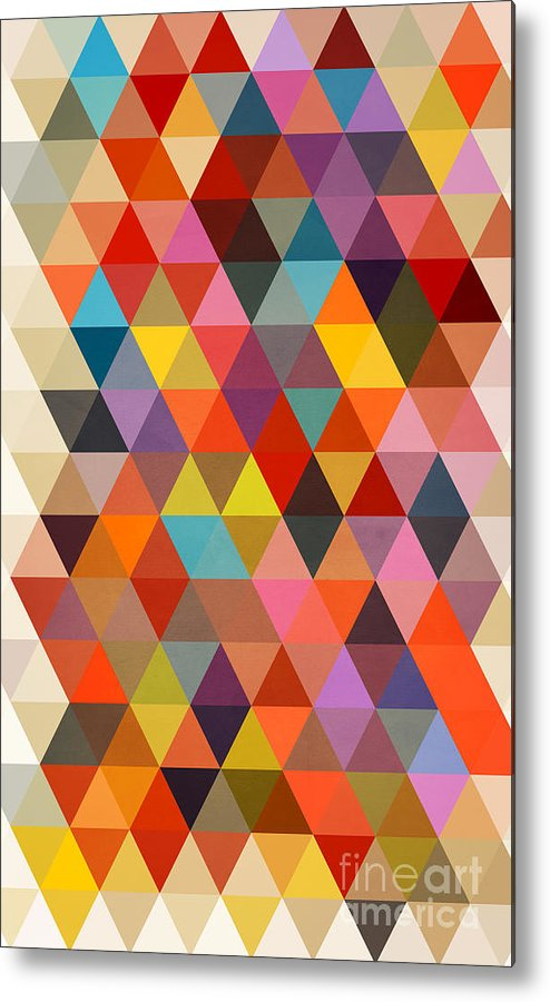 Contemporary Metal Print featuring the painting Shapes by Mark Ashkenazi