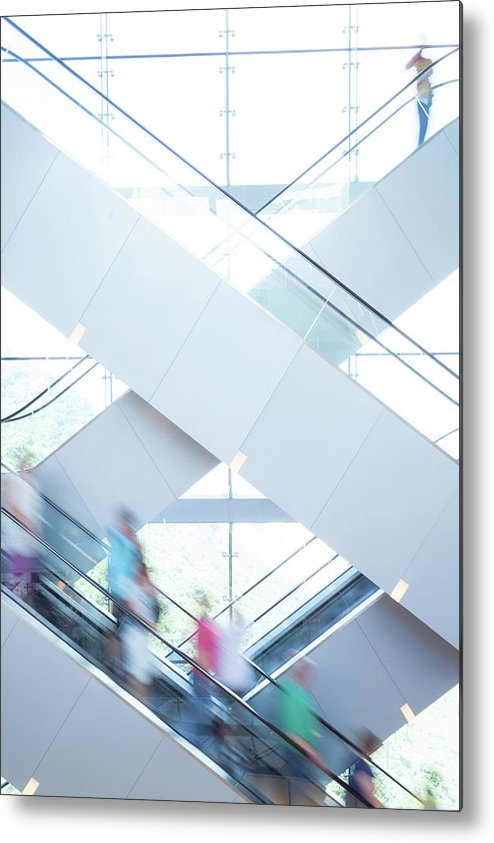 Buy Metal Print featuring the photograph Shopers In Motion by Uschools