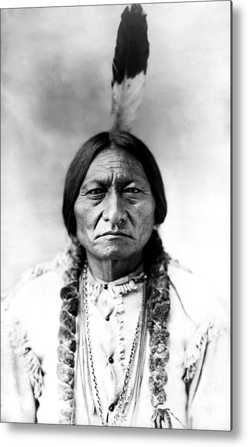 Sitting Bull Metal Print featuring the photograph Sitting Bull by Bill Cannon