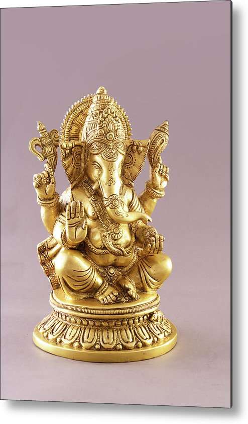 Spirituality Metal Print featuring the photograph Statue Of Lord Ganesh by Visage