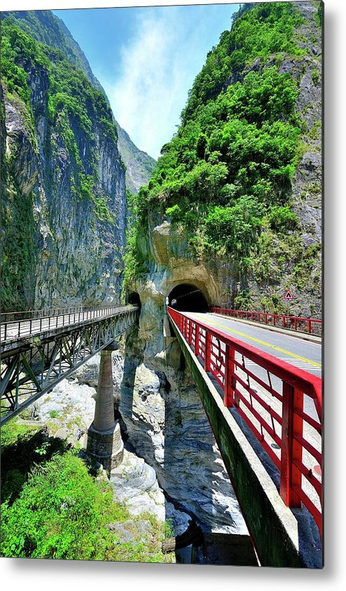 Built Structure Metal Print featuring the photograph Taroko Gorge by Photography By Anthony Ko