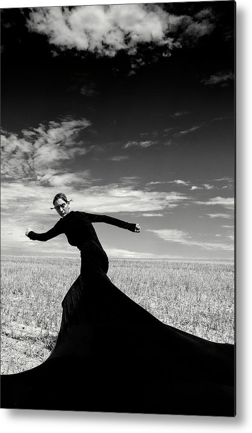 Looking Over Shoulder Metal Print featuring the photograph The Witch by Funky-data