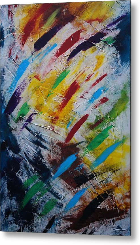 Abstract Metal Print featuring the painting Time stands still by Sergey Bezhinets