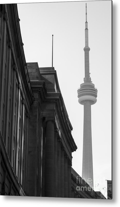 Toronto Metal Print featuring the photograph Toronto CN Tower by Matt Trimble