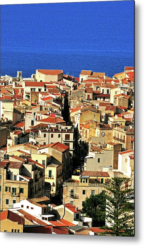 Tyrrhenian Sea Metal Print featuring the photograph Veins Of Cefalu by Image Brought To You Through The Eye Of Andrew Parker