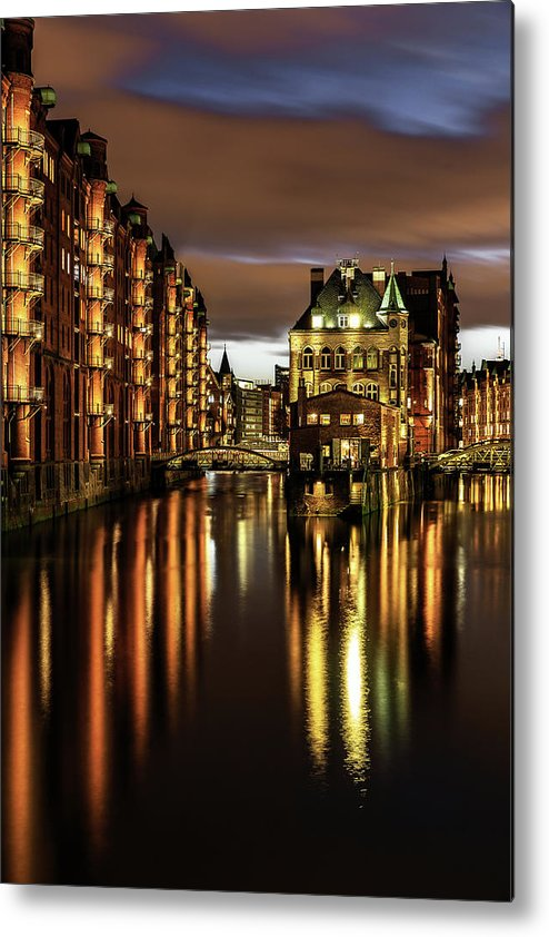 Trading Metal Print featuring the photograph Warehouse District by Achim Thomae
