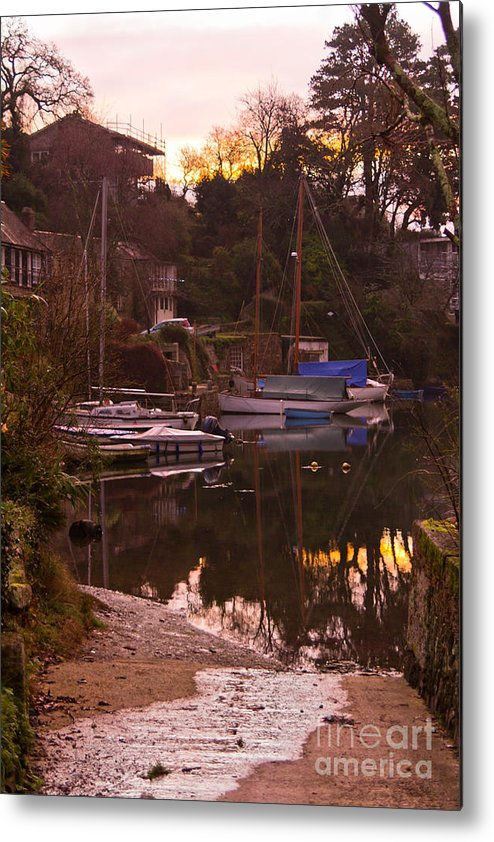 Port Navas Metal Print featuring the photograph Sunrise Port Navas by Brian Roscorla