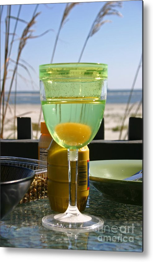 Beach Metal Print featuring the photograph Lunch on the Porch by Beebe Barksdale-Bruner
