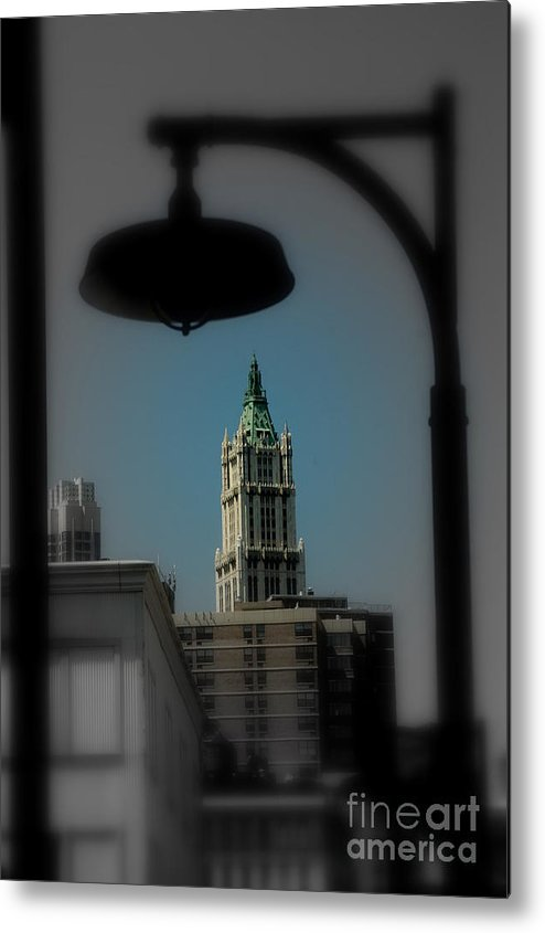 Digital Designs Metal Print featuring the photograph Woolworth Building by Mark Gilman