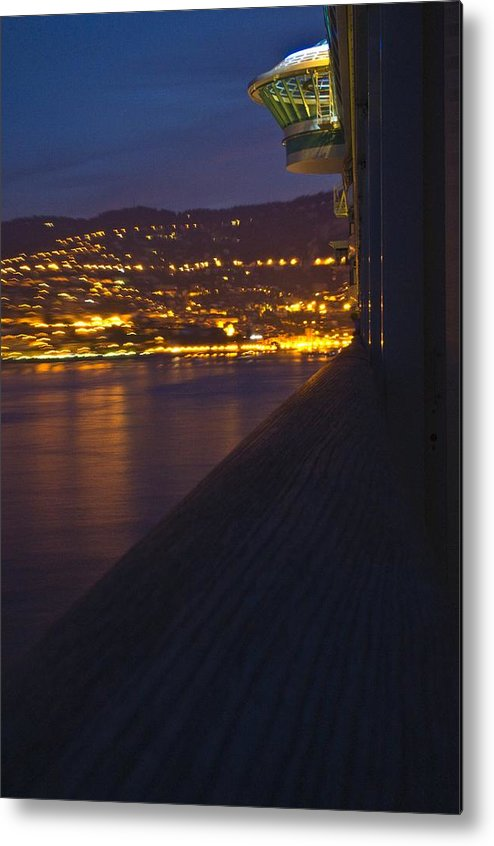 Alien Metal Print featuring the photograph Alien Spacecraft Over Villefranche by Richard Henne
