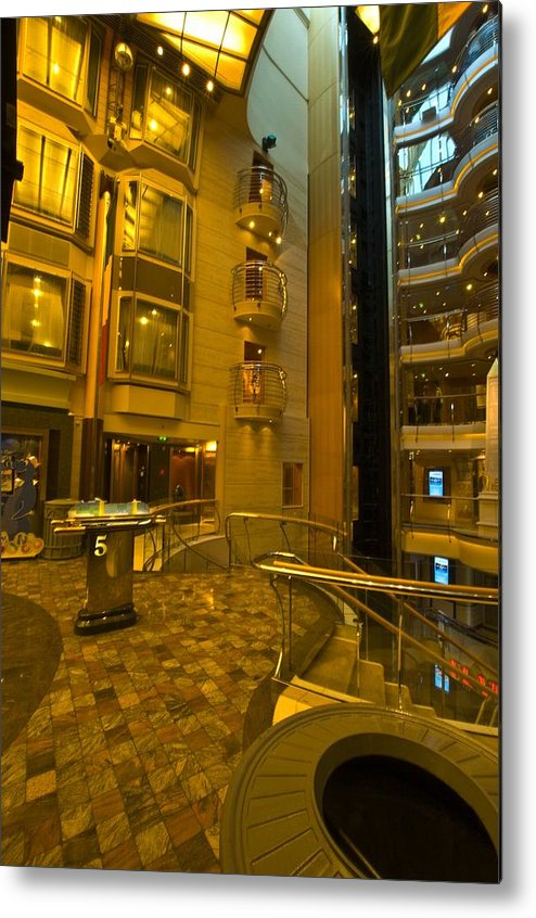 Liberty Of The Seas Metal Print featuring the photograph Big Ship Cityscape by Richard Henne