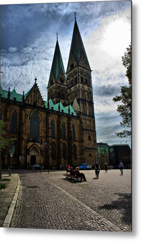 Bremen Metal Print featuring the photograph Church in Bremen Germany 2 by Edward Myers