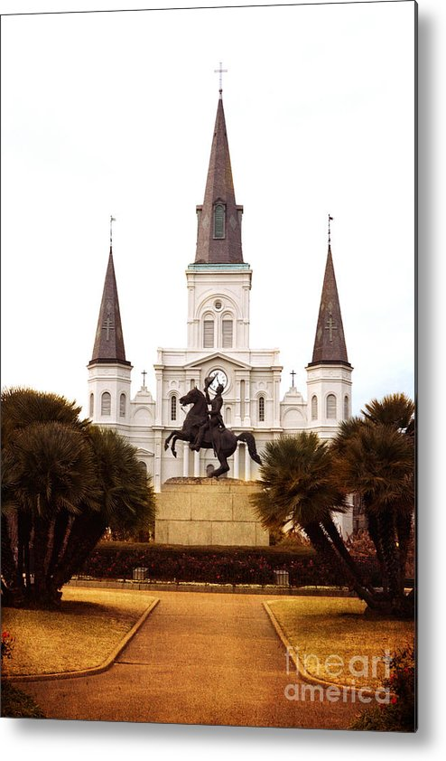 New Orleans Metal Print featuring the photograph New Orleans St. Louis Cathedral by Kim Fearheiley
