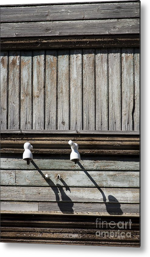 Electricity Metal Print featuring the photograph No Electricity by Agnieszka Kubica