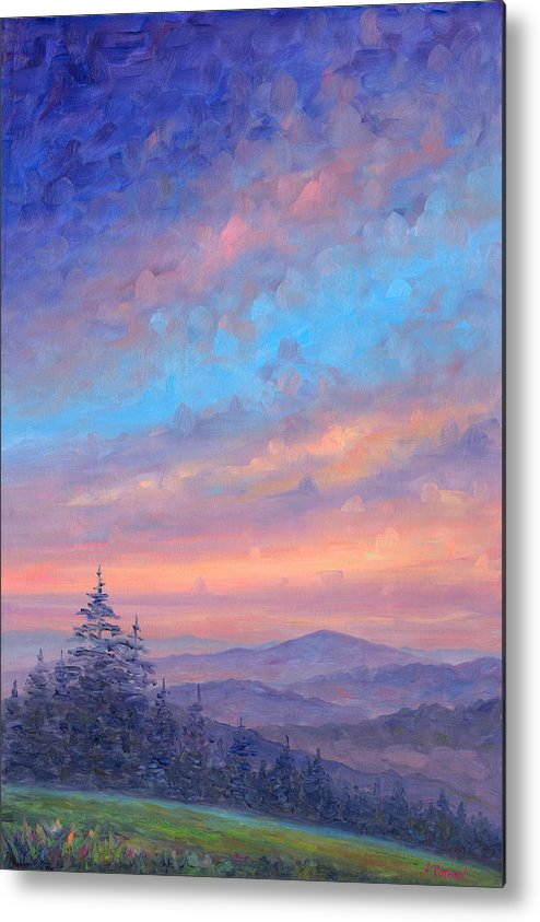 Sunset Metal Print featuring the painting Parkway Glow II by Jeff Pittman