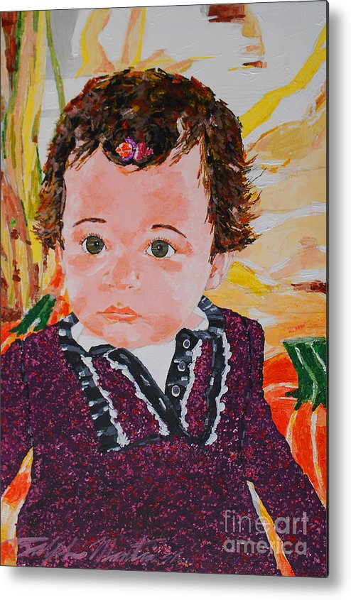 Girl Metal Print featuring the painting Stella by Art Mantia