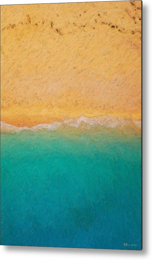 �not Quite Rothko� Collection By Serge Averbukh Metal Print featuring the photograph Not quite Rothko - Surf and Sand by Serge Averbukh