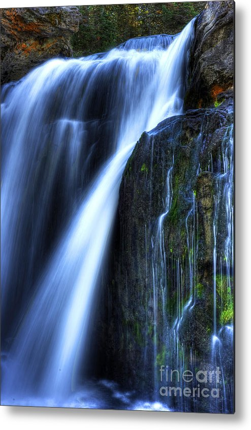 Places Metal Print featuring the photograph Crayfish Falls by Dennis Hammer