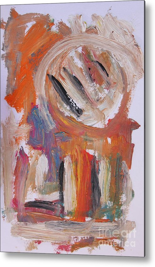 Abstract Metal Print featuring the painting Abstract 6833 by Michael Henderson
