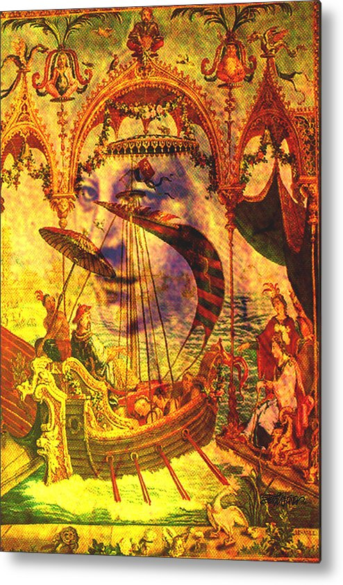 Ancient Metal Print featuring the digital art Ancient of Days by Seth Weaver
