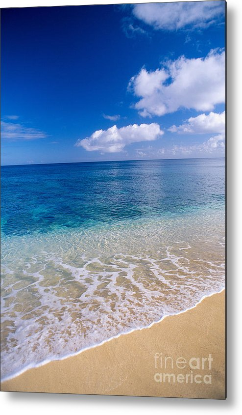 Aqua Metal Print featuring the photograph Azure Ocean by Peter French - Printscapes