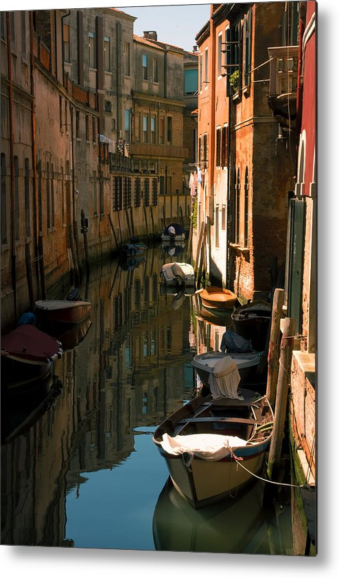 Venice Metal Print featuring the photograph Back Canal in Venice by Michael Henderson