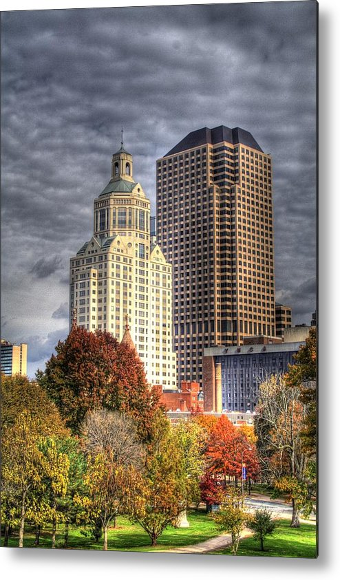 Metal Print featuring the photograph Bushnell Park Hartford by Sam Turgeon