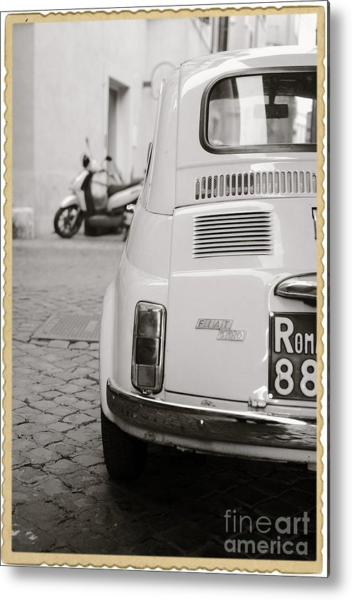 Italy Metal Print featuring the photograph Cinquecento Black and White by Stefano Senise