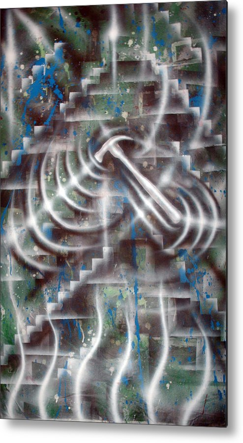 Paint Metal Print featuring the painting Construction by Leigh Odom