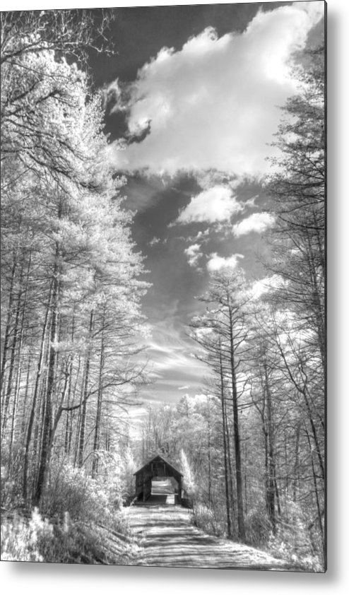 Bridge Metal Print featuring the photograph Covered Bridge Dupont North Carolina by Jane Linders