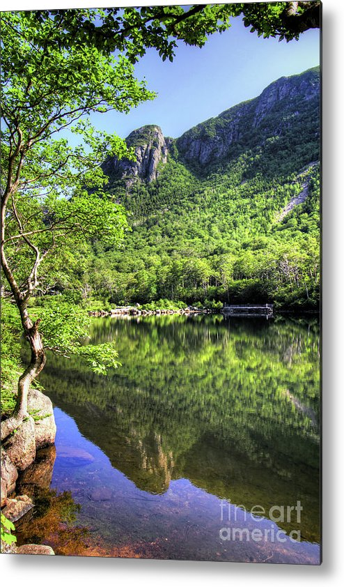 White Mountains Of New Hampshire Metal Print featuring the photograph Eagle cliff by Diana Nault