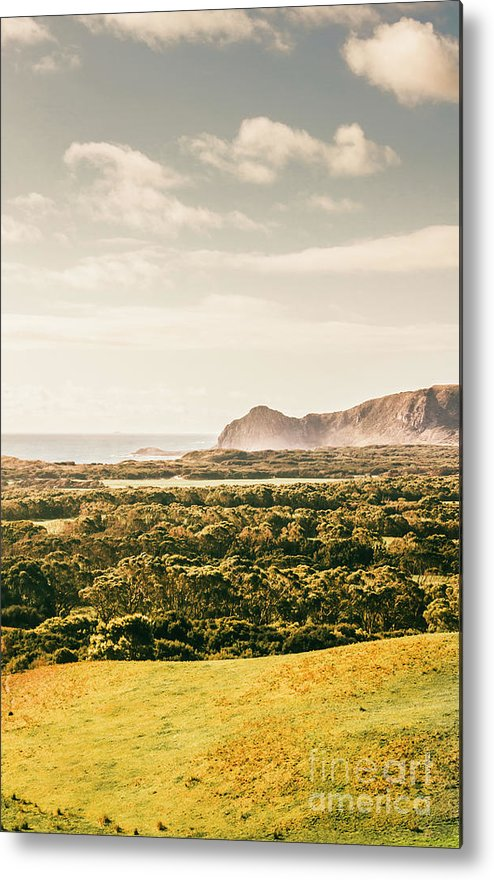 Australia Metal Print featuring the photograph Farm fields to seaside shores by Jorgo Photography