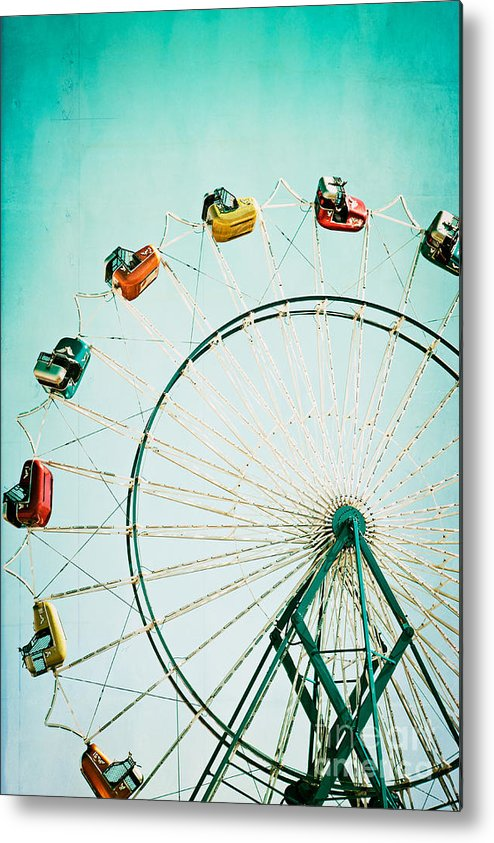 Ferris Wheel Metal Print featuring the photograph Ferris Wheel 2 by Kim Fearheiley