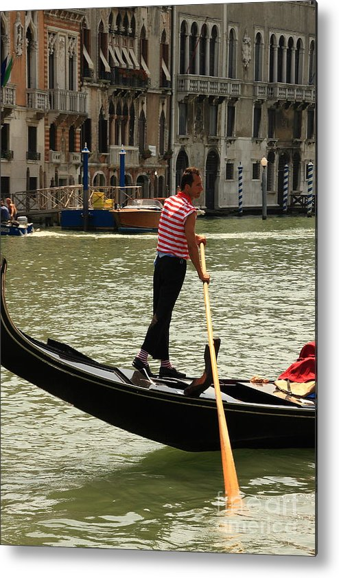 Venice Metal Print featuring the photograph Gondolier with Matching Socks by Michael Henderson