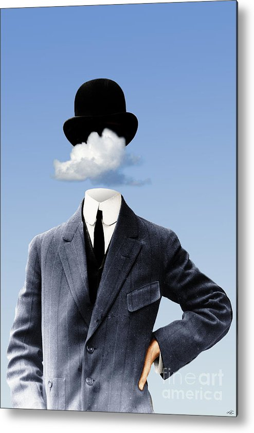 head In The Clouds Metal Print featuring the digital art Head In The Clouds by Kenneth Rougeau