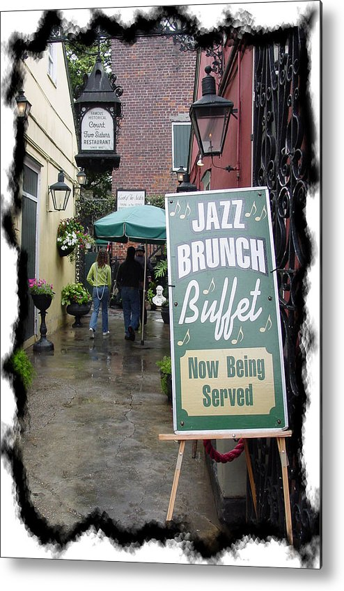New Orleans Metal Print featuring the photograph Jazz Brunch by Linda Kish