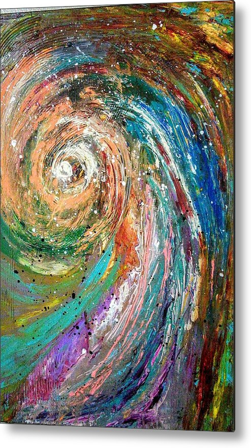 Spinning Colors Metal Print featuring the painting Joy by Valerie Josi