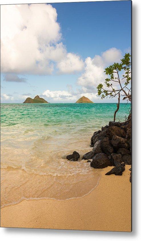 Lanikai Kailua Oahu Hawaii Beach Park Seascape Metal Print featuring the photograph Lanikai Beach 1 - Oahu Hawaii by Brian Harig