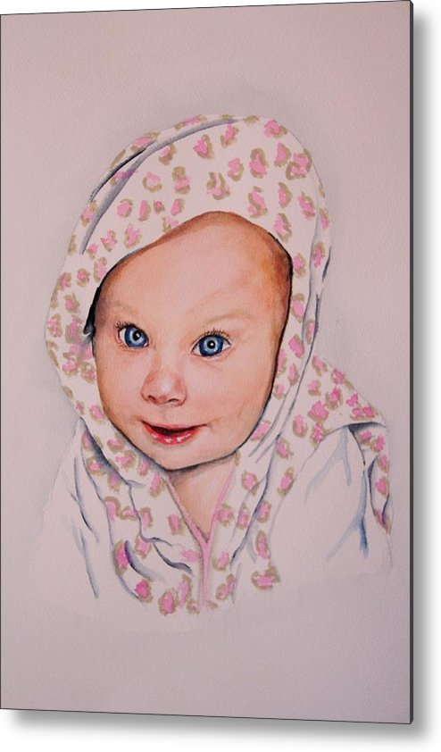 Portrait Metal Print featuring the painting Madi by Diane Ziemski
