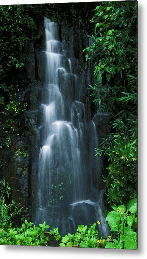 Amaze Metal Print featuring the photograph Maui Waterfall by Ron Dahlquist - Printscapes
