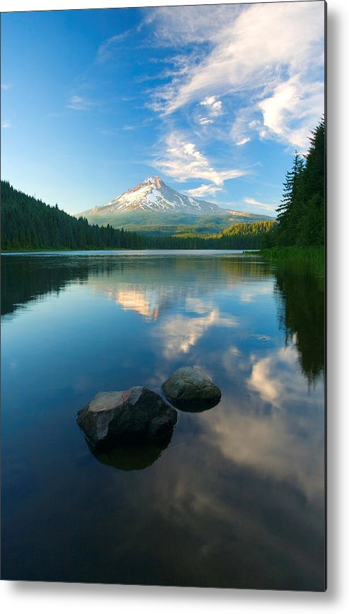 Mt. Hood Metal Print featuring the photograph Mt. Hood Cirrus Explosion by Mike Dawson
