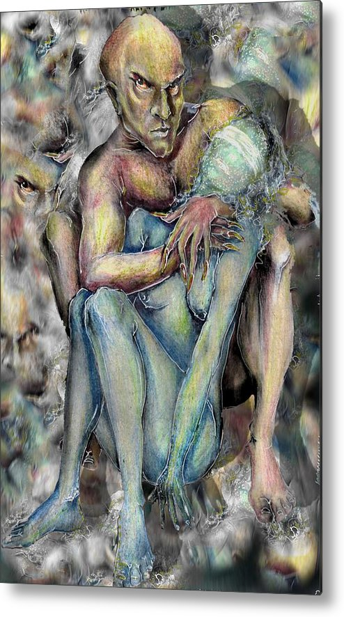 Demons Love Passion Control Posession Woman Lust Metal Print featuring the mixed media My Precious by Veronica Jackson